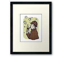 Bubbles, dear Watson Framed Print