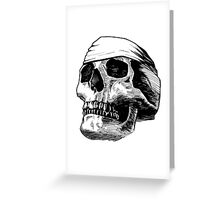 Skull Bandana  Greeting Card