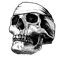 Skull Bandana  Photographic Print