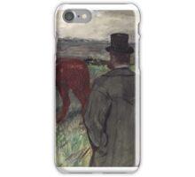 Henri de Toulouse-Lautrec, , AT THE RACECOURSE iPhone Case/Skin