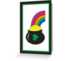 pot of gold Greeting Card