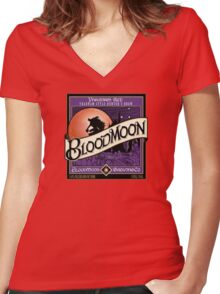 Blood moon Hunters Brew Women's Fitted V-Neck T-Shirt