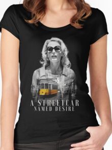 Gillian Anderson - A Streetcar Named Desire Women's Fitted Scoop T-Shirt