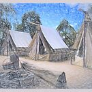 Miners' camp by Jan Pudney