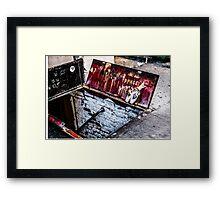 """""""DANGER"""" Framed Print"""