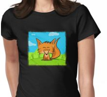Cute fox Womens Fitted T-Shirt