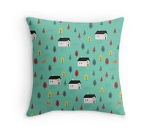 Countryside Pattern Throw Pillow