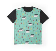 Countryside Pattern Graphic T-Shirt