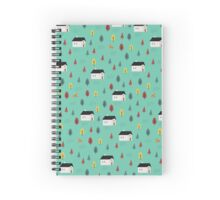 Countryside Pattern Spiral Notebook