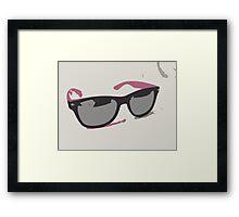 Pink Sunglasses Framed Print