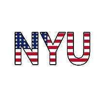 NYU American Flag Photographic Print