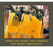 Limoncello (when life gives you lemons) Photographic Print