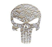 Lace Punisher skull Photographic Print