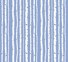 Blue Birch by CrownedRabbit