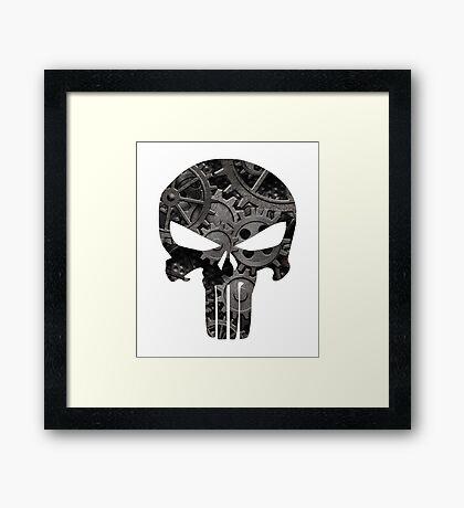 Punk Goth Steampunk Punisher Skull Framed Print