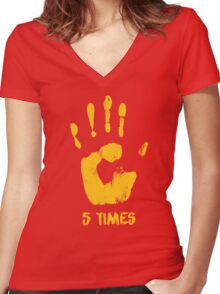 Liverpool FC - LFC - 5 Times Women's Fitted V-Neck T-Shirt