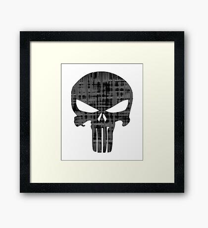 Goth Punk Punisher Skull Framed Print