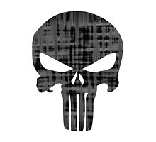Goth Punk Punisher Skull Photographic Print