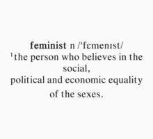 Feminist Definition by sergiovarela