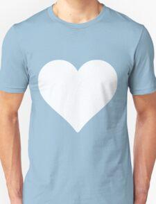 White heart shape love design valentine cute T-Shirt