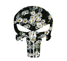 Daisy Punisher Skull Photographic Print