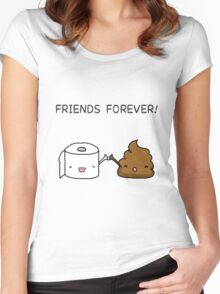 Friends Forever - Poop and Toilet roll Women's Fitted Scoop T-Shirt