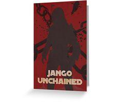 Star Wars Jango Fett Unchage - Django Unchained Logo Greeting Card
