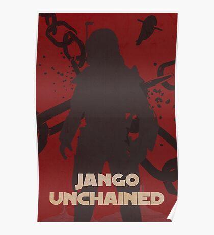 Star Wars Jango Fett Unchage - Django Unchained Logo Poster