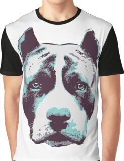 Blue Pit Bull  Graphic T-Shirt