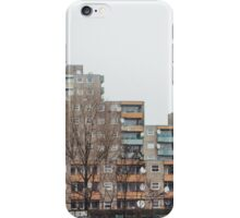 Brutalist Berlin Architecture - Apartment Block in Winter iPhone Case/Skin