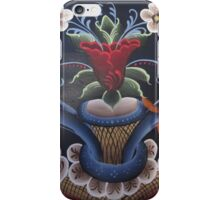 Scandinavian Viking Folk Art Kurbits Rosemaling Kirsten Designs iPhone Case/Skin