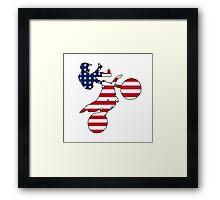American flag dirt bike Framed Print
