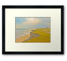 Lonely Beach with Barranco Framed Print