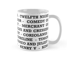 Shakespeare Plays  Mug