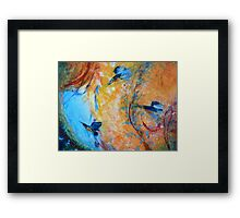 Kingfisher Colours Framed Print