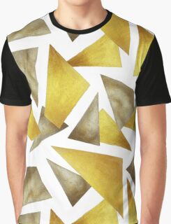 Gold and bronze geometrical print Graphic T-Shirt