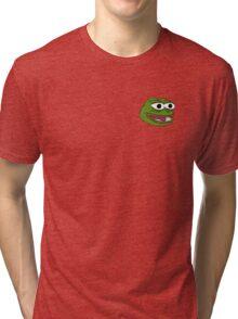 Singular Pepe the frog design. Tri-blend T-Shirt