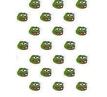 Multiple Pepe the frog design. Photographic Print