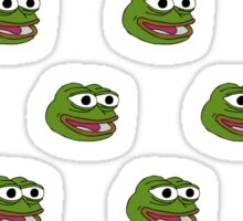 Multiple Pepe the frog design. Sticker