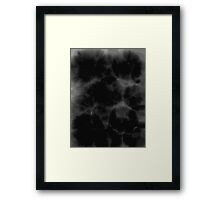 Black Ink Abstract Framed Print