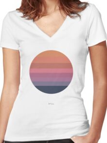 Tycho Awake (Sun Design) Women's Fitted V-Neck T-Shirt