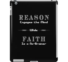 Reason vs. Faith iPad Case/Skin