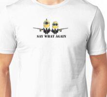 Minion - Pulp Fiction Theme - Say What Again Unisex T-Shirt