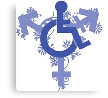 Floral Disabled Non Binary Canvas Print