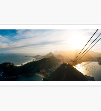 Rio de Janeiro Skyline With Christ the Redeemer Seen From Sugarloaf Sticker