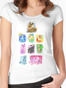 Eeveelutions Women's Fitted Scoop T-Shirt