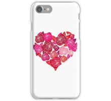 A Heart of Red Roses iPhone Case/Skin