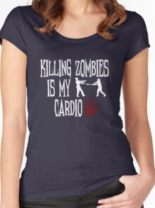 Killing Zombies Is My Cardio Women's Fitted Scoop T-Shirt