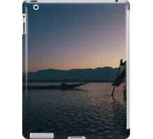 Two Fishermen at Work on Lake Inle in Early Morning, Myanmar iPad Case/Skin