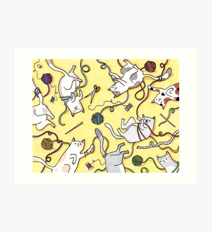 Yarn Cats Art Print